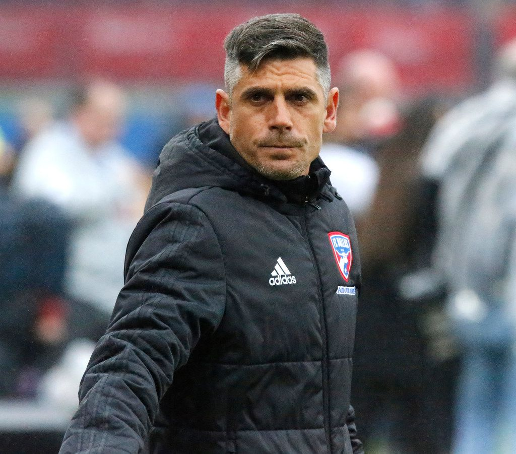 FC Dallas head coach Luchi Gonzalez before the start of the game as FC Dallas hosted New England Revolution at Toyota Stadium in Frisco on Saturday, March 2, 2019.  (Stewart F. House/Special Contributor)