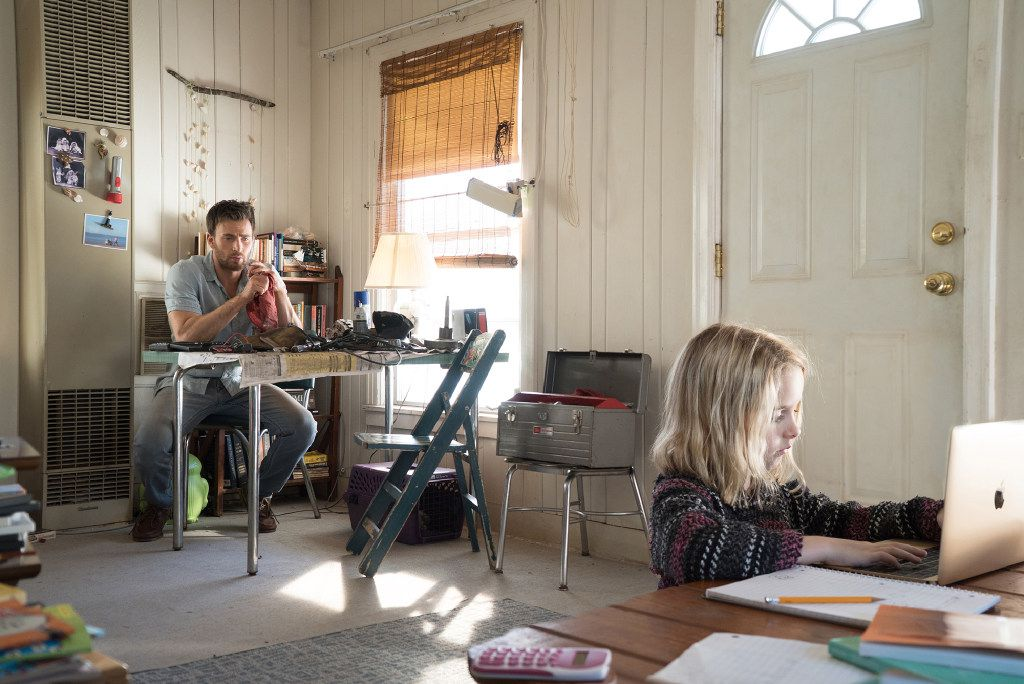 """Mckenna Grace as Mary Adler and Chris Evans as Frank Adler in """"Gifted."""""""
