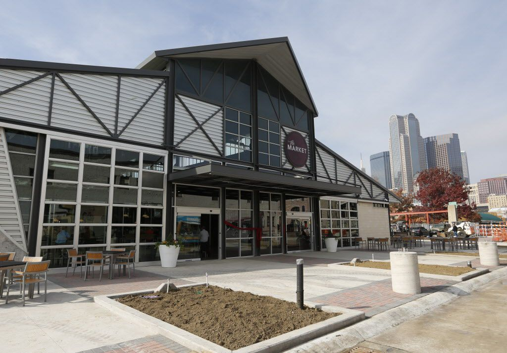 Exterior view of The Market building photographed Friday December 11, 2015 located at the Dallas Farmers Market .  (Ron Baselice/The Dallas Morning News)   [ This is located in the building formerly called Shed 2 at the Dallas Farmers Market ]