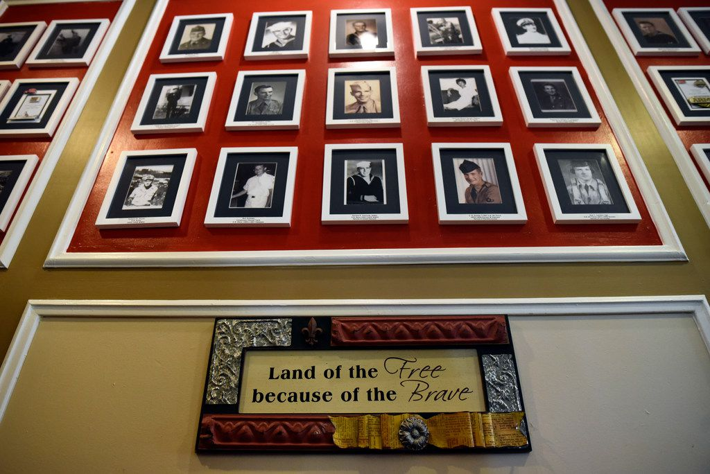 The Wall of Honor celebrates residents who are veterans and who live at the Treemont Retirement Community.