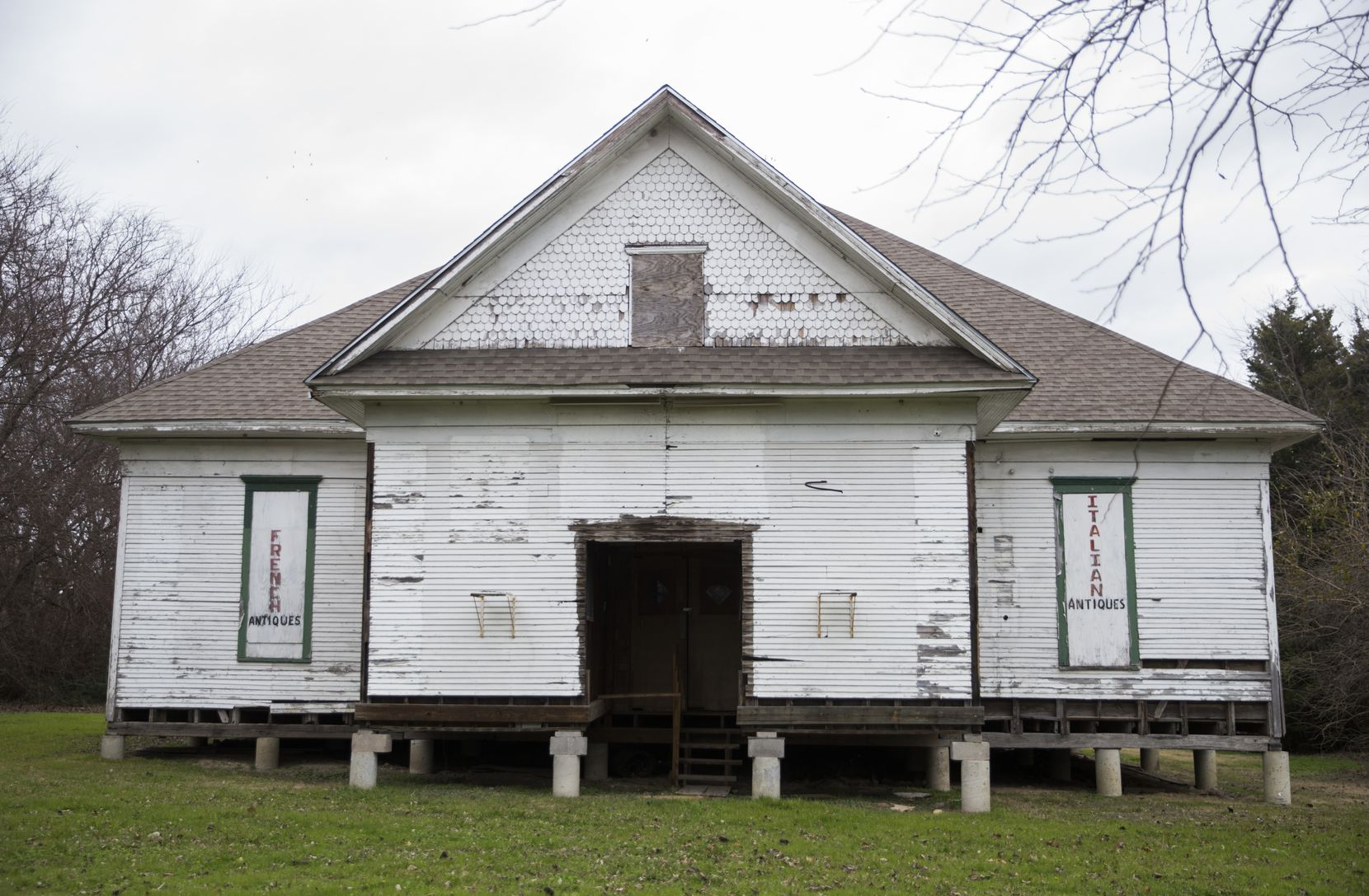 New Hope Church, built in 1909, has been moved to the Opal Lawrence Historical Park for restoration and could open to visitors in two to three years.