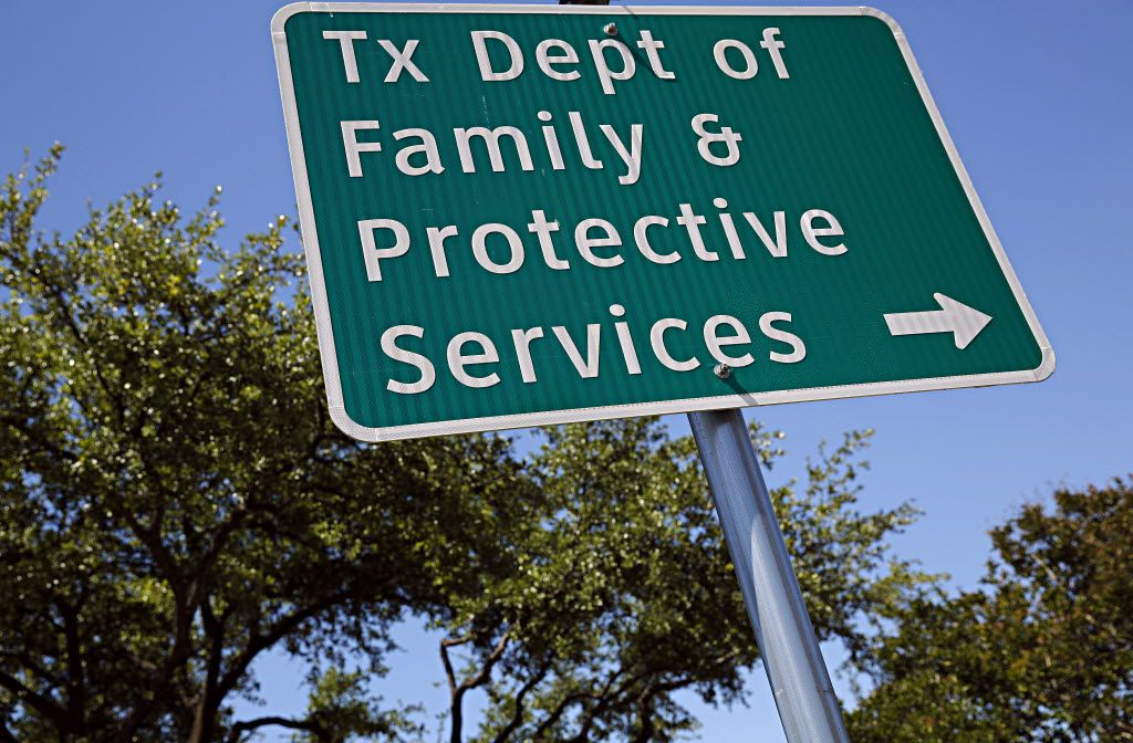 A sign outside of the Texas Department of Family and Protective Services office photographed Tuesday, May 3, 2016 in Dallas. (G.J. McCarthy/The Dallas Morning News