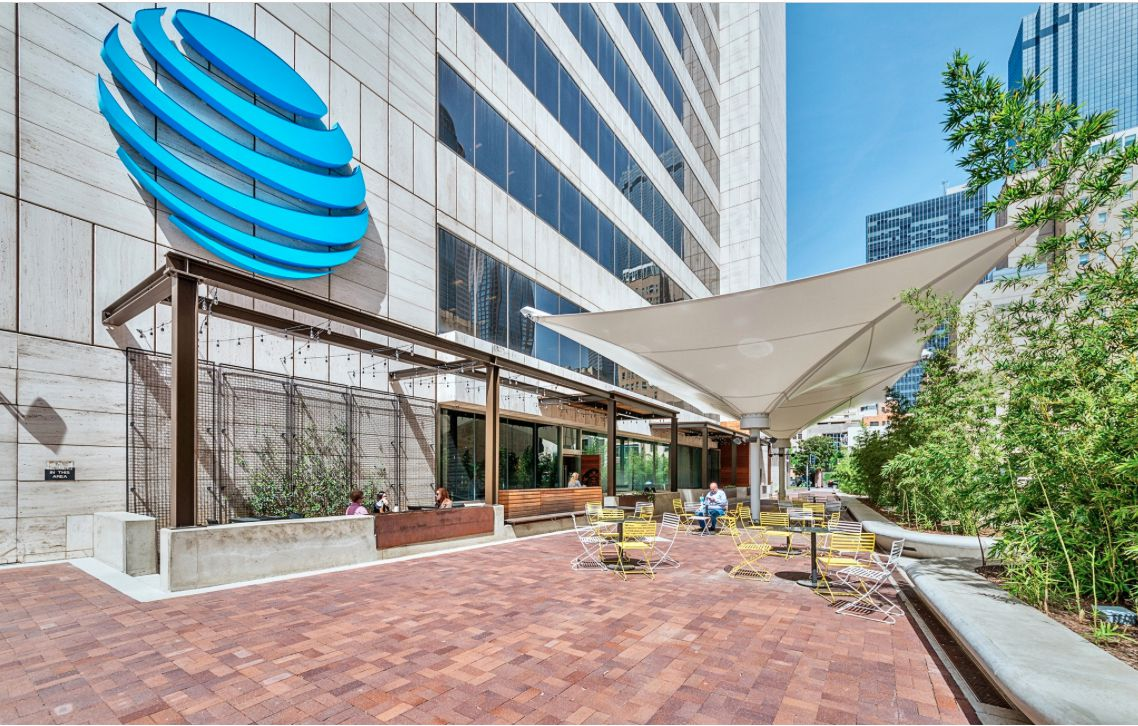 AT&T is spending more than $100 million to upgrade its downtown campus, which includes the 37-story office high-rise.