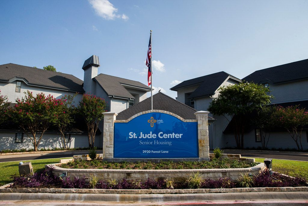 St. Jude Center, a senior-living facility for homeless and veterans on Thursday, August 23, 2018. The Dallas Housing Authority was supposed to fill the facility with residents using vouchers, but vouchers are not available due to lack of funding. (Ashley Landis/The Dallas Morning News)