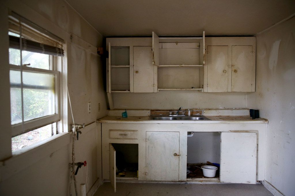 This is the kitchen of the HMK rent house Fernando and Yolanda Gonzalez plan to move into in West Dallas. The couple must leave  their current HMK rent house on McBroom Street because the landlord wants to redevelop there.