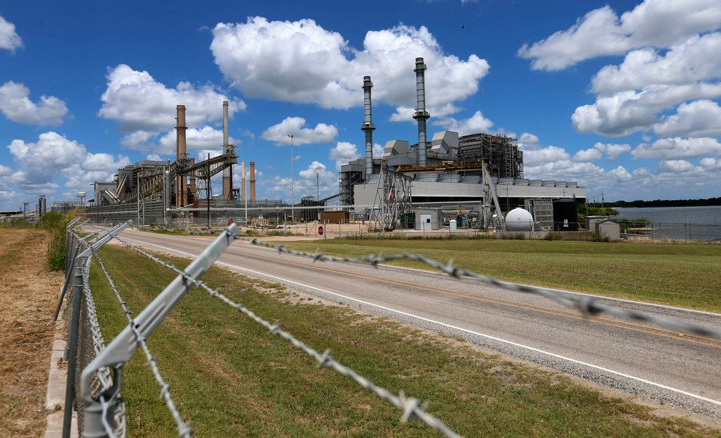 The former coal-fired Sandow power plant near Rockdale, Texas, on Thursday, June 14, 2018. The electric generating power plant owned by a subsidiary of Luminant was shut down in 2018.