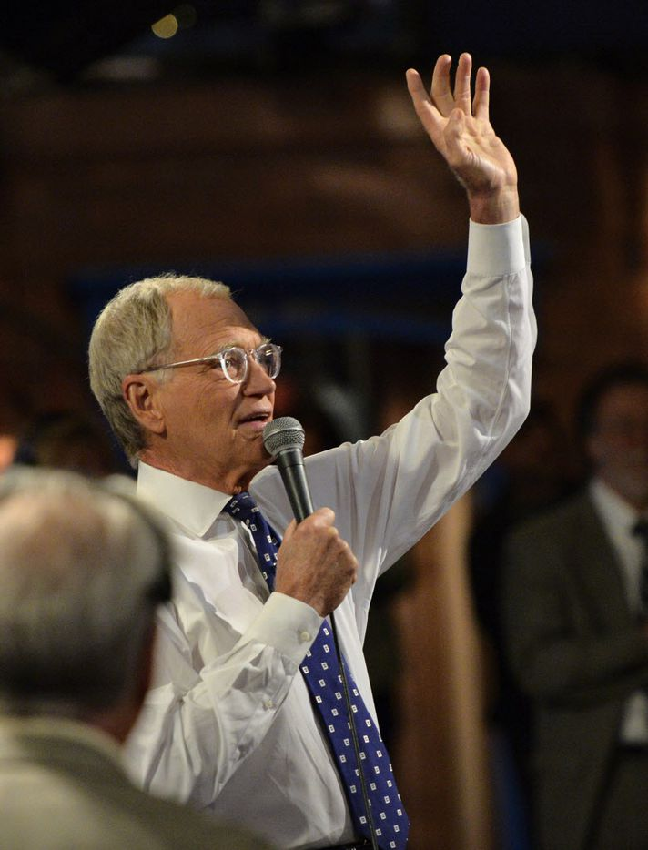 """David Letterman hosts his final broadcast of the """"Late Show with David Letterman."""