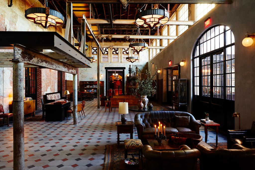 The Hotel Emma's repurposing of a historic 1880s brewery adds to its ambience. The casual-elegant hotel opened in 2015.