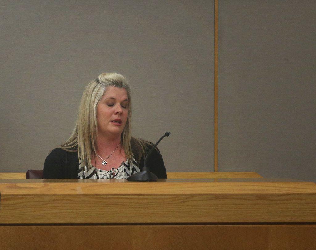 Chrissie Corey, mother of Alexus Garcia, testifies during the sentencing phase of Garcia's killer.