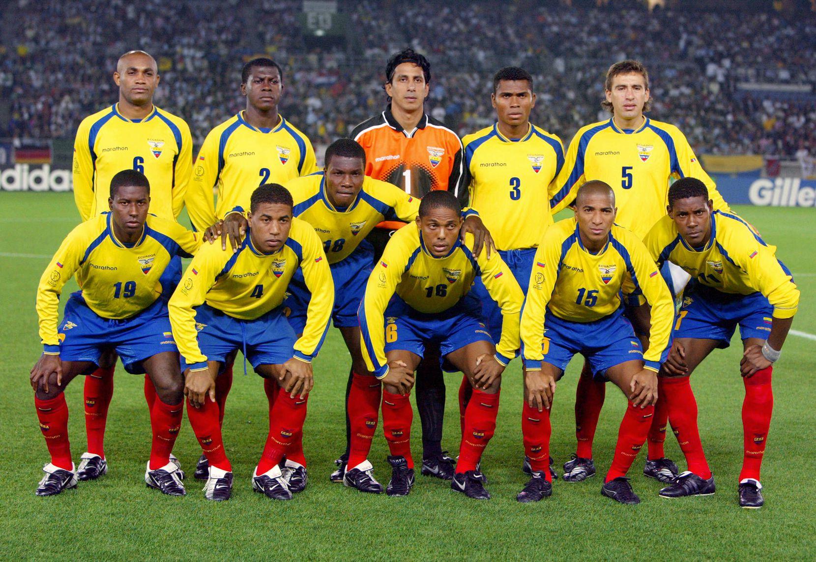 Ecuador durante el Mundial 2002. Foto Getty Images