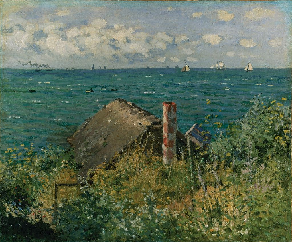 Monet's A Hut at Sainte Adresse from 1867.  (Kimbell Art Museum)