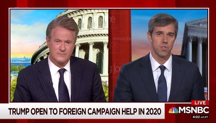 Beto O'Rourke appeared on MSNBC's Morning Joe on Thursday.