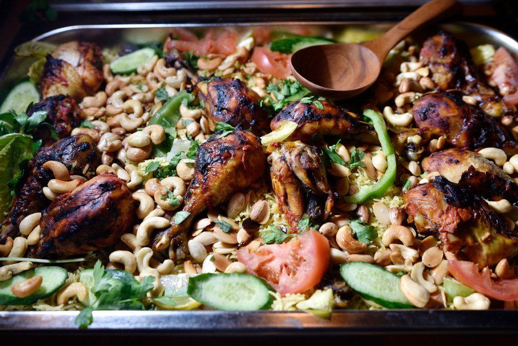 Kabsa, a rice and chicken dish