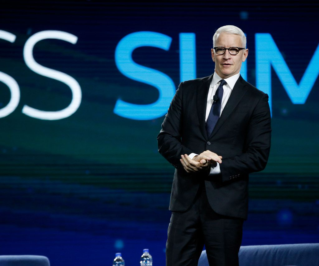 CNN's Anderson Cooper has twice been a headliner at AT&T's Business Summit.