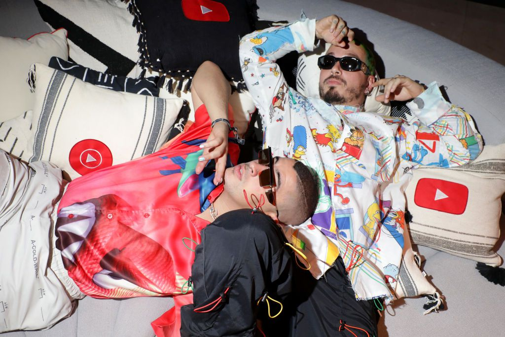 Bad Bunny y J Balvin se unen para el álbum OASIS.  (Roger Kisby/Getty Images for YouTube)