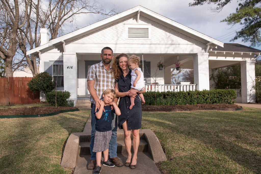 Wes Peacock, his wife, Dawn, and their children, Miles, 5, and Josephine, 14 months, live in a Craftsman home built on the lots reserved for the original developer, R.O. Travis.  The street of Craftsman style houses in Garland was added to the National Register of Historic Places.