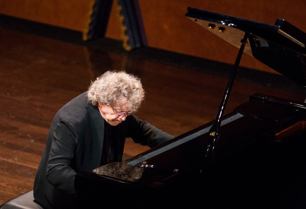 Pianist Pascal Rogé performs at Texas Christian University's PepsiCo Recital Hall in Fort Worth on June 9, 2019.