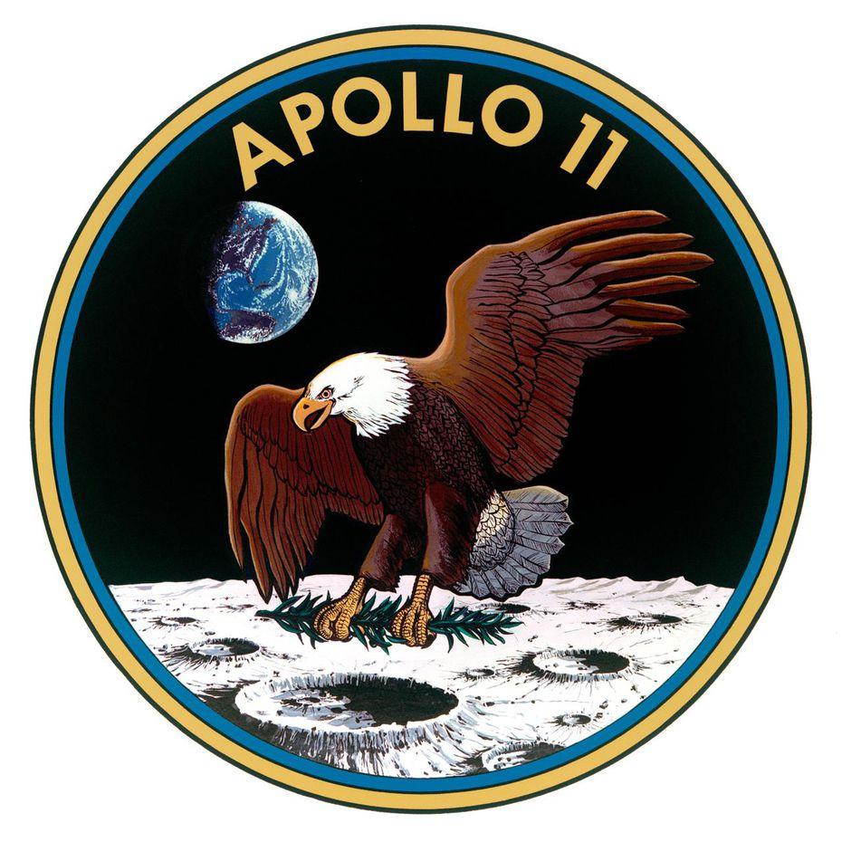 La insignia de la misión Apollo 11.