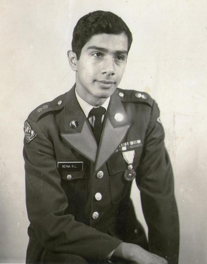 Robert Reyna in his ROTC uniform from his days at Pinkston High School.