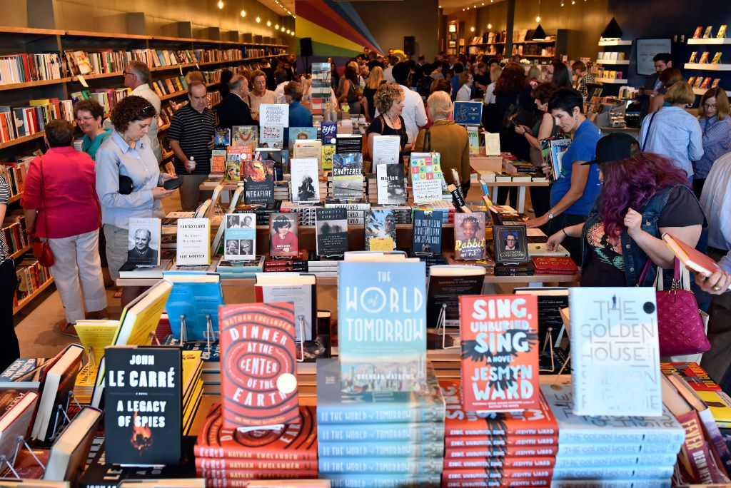A scene of the grand opening of Interabang Books in Dallas, Monday, Sept. 11, 2017.