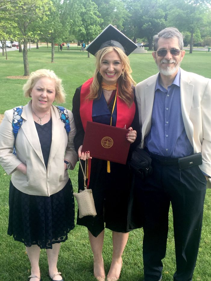 Jeffrey and Marni Weiss with Jeff's niece Lindsey' during her graduation from Oklahoma University in May 2016. Lindsey is the daughter of Jeffrey's brother Dale Weiss.