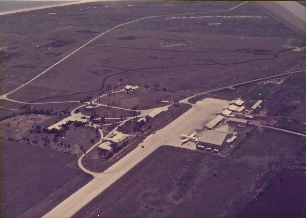 An aerial view of the compound of Dallasite Toddie Lee Wynne on the southern end of Matagorda Island in about 1980.