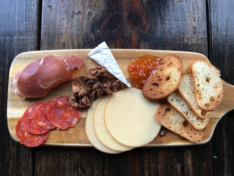An antipasto board at Nickel and Rye.