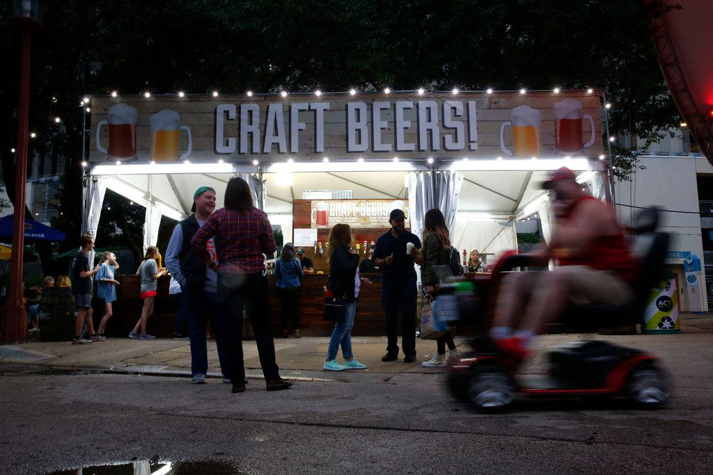 Craft beers is served in the Magnolia Beer Garden during the State Fair of Texas in Dallas on Sept. 29.