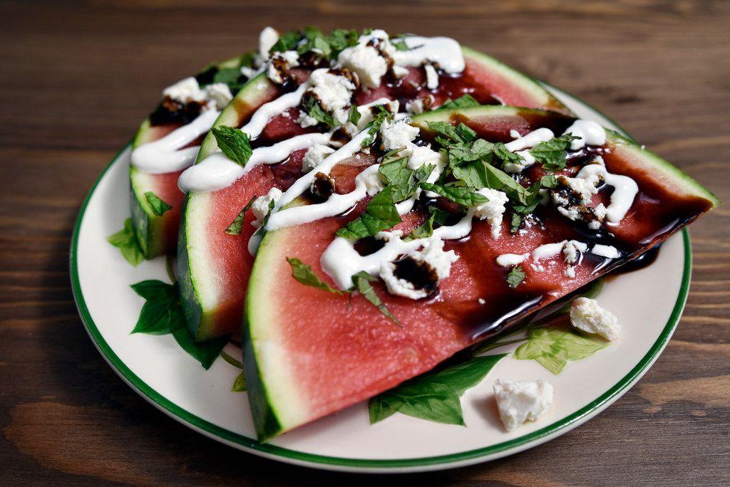 A dish of Karpouzaki (the little melon)
