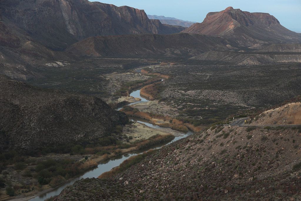 The Rio Grande that marks the boundary between the United States (right) and Mexico is seen on Jan. 17, 2019, from Big Bend Ranch State Park.