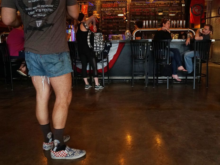 """Ice Cole's famous """"jorts"""" are a signature part of his trivia nights. He also writes all the trivia questions himself."""