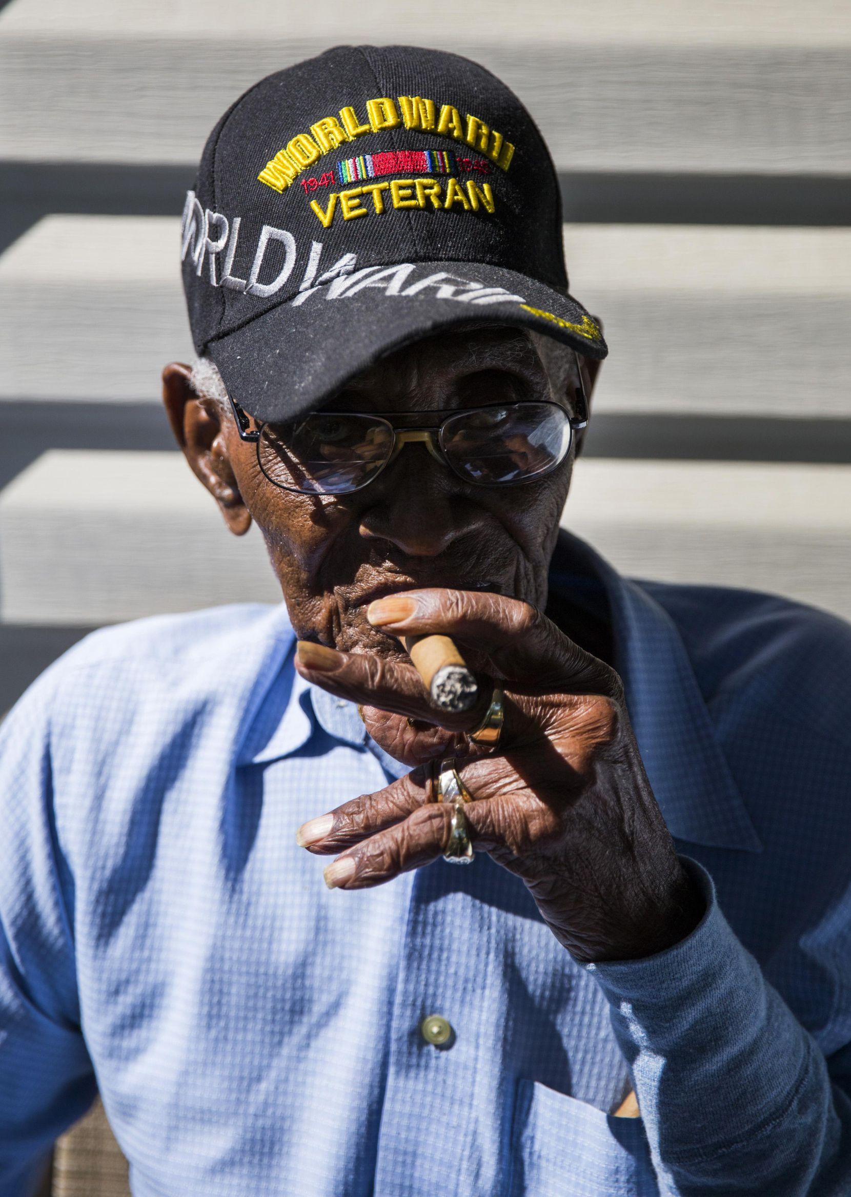 Richard Overton es veterano de la Segunda Guerra Mundial. ASHLEY LANDIS/DMN