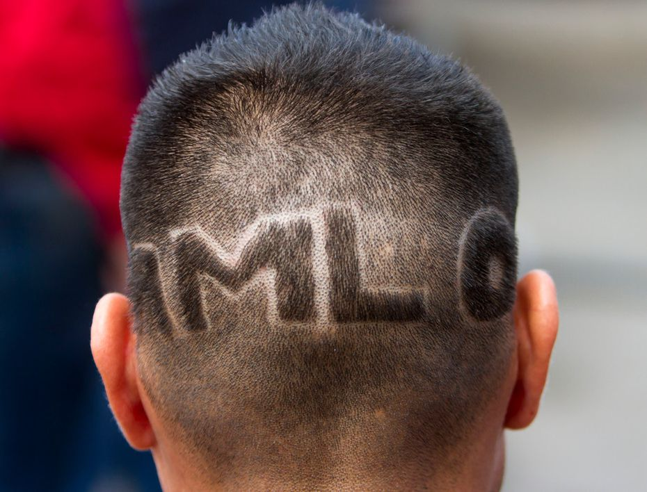 A supporter of Mexican presidential candidate Andres Manuel Lopez Obrador attended a campaign rally in Nuevo Laredo, Tamaulipas, Mexico on April 5.