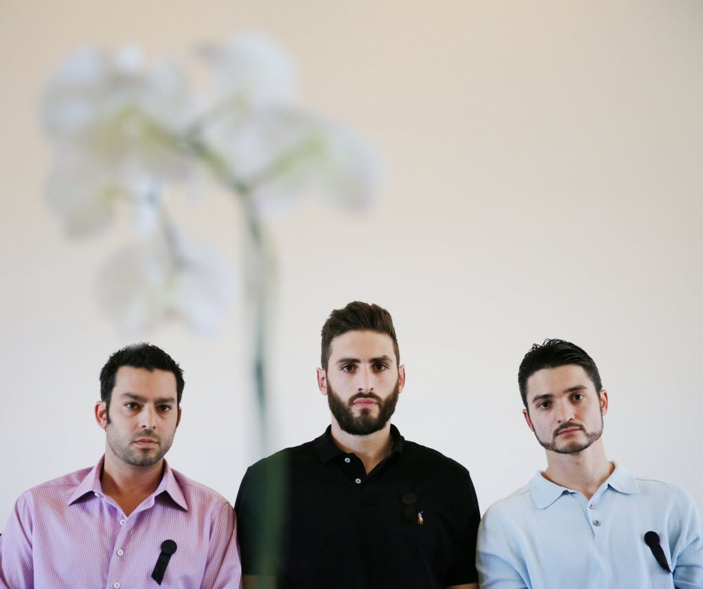 The sons of slain Dallas attorney Ira Tobolowsky: Jonathan (from left), Michael and Zachary.