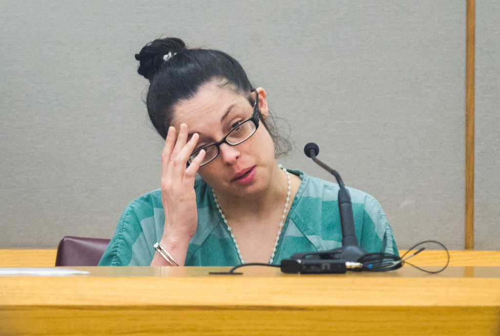 Jeri Quezada testifies during the capital murder trial for Charles Phifer, who was found guilty of capital murder in the death of Quezada's 4-year-old daughter.