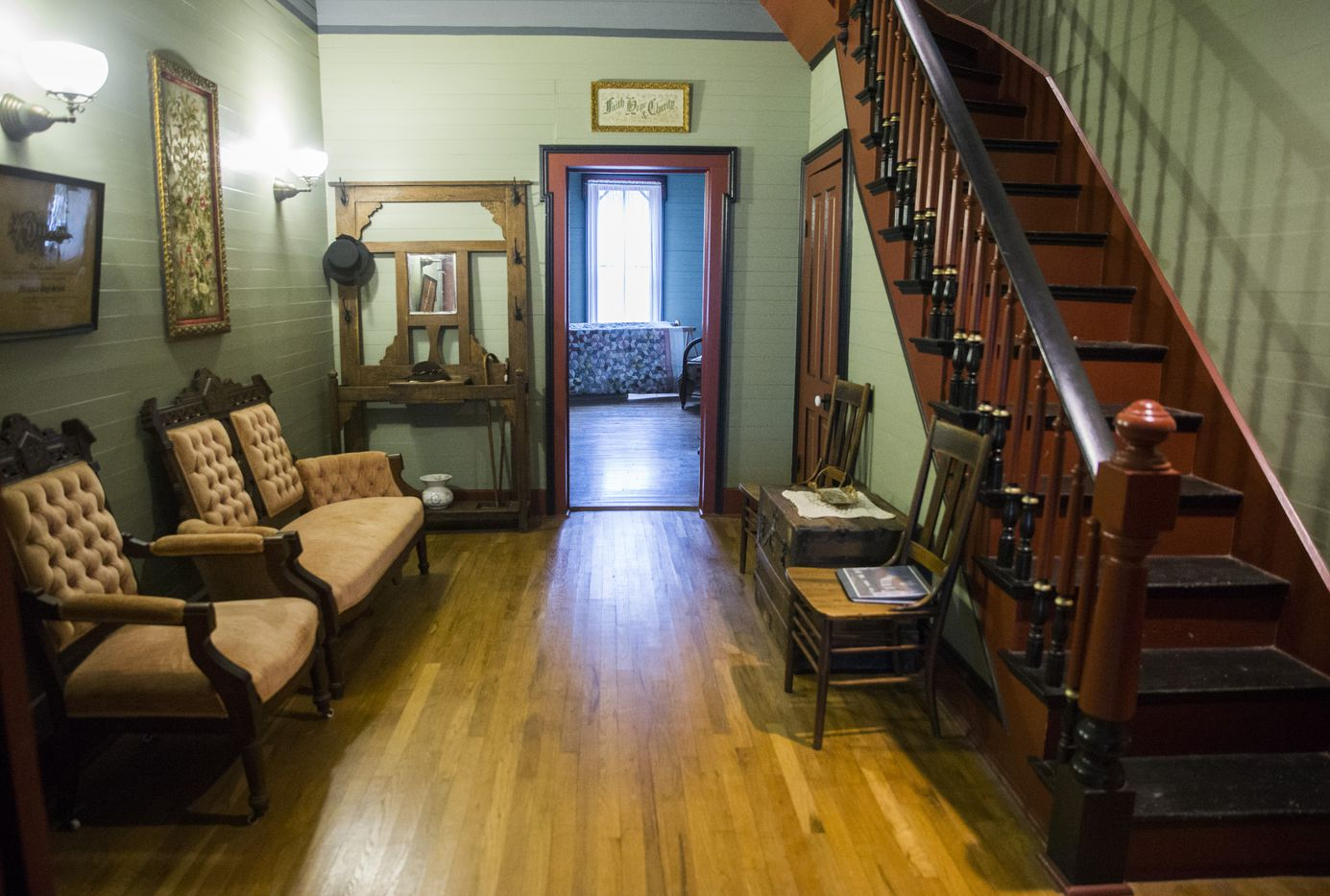 The first floor hallway inside the Lawrence House in the Opal Lawrence Historical Park in Mesquite. Members of the Lawrence family -- including three daughters who spent their entire lives on this farming homestead -- lived there from 1874 to 1995.