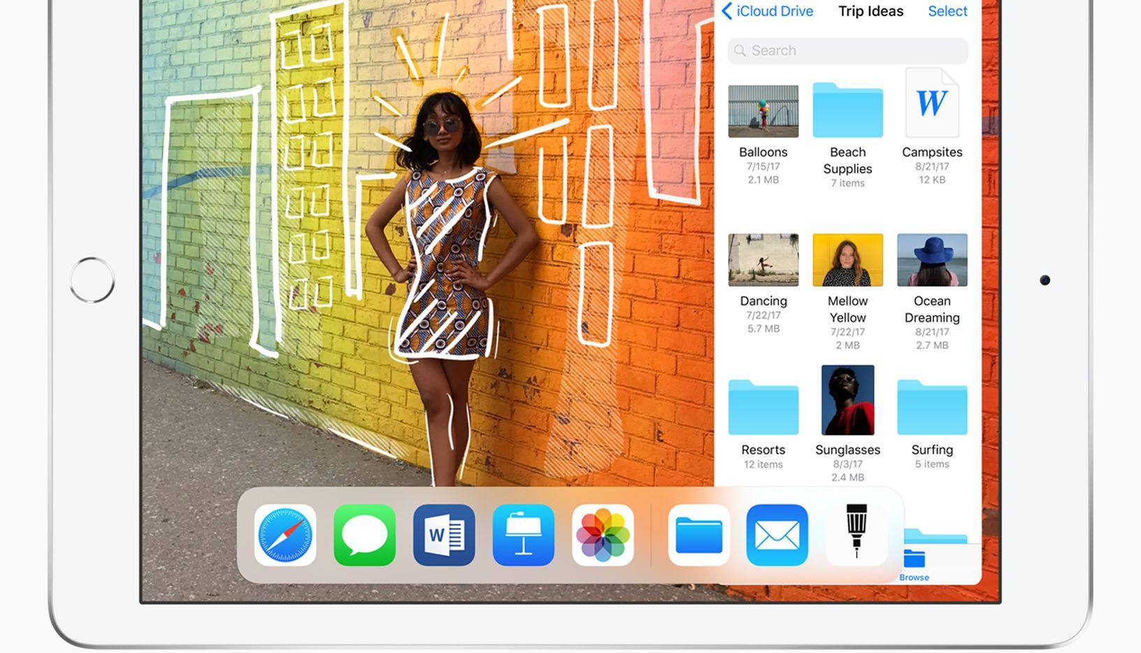 The 2018 Apple iPad with Apple Pencil