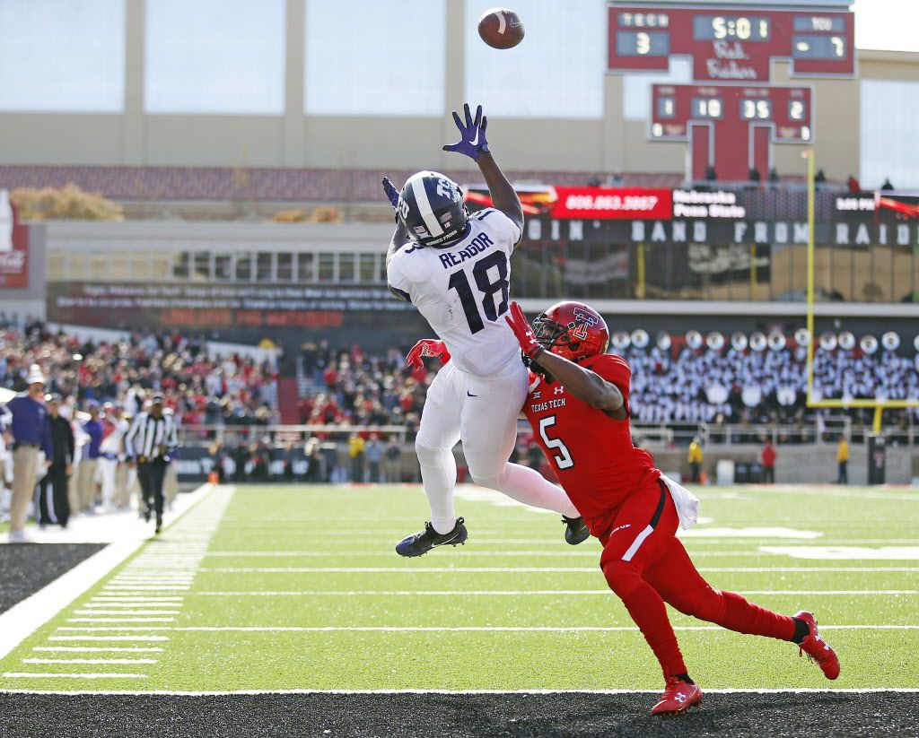 TCU's Jalen Reagor was a freshman wearing a different number the last time TCU traveled to play Texas Tech. (AP Photo/Brad Tollefson)