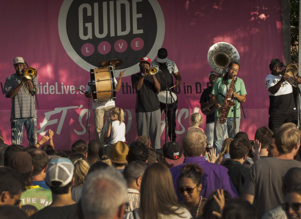 The Rebirth Brass Band performs  in the parking lot behind the Granada  (Robert W. Hart/Special Contributor)