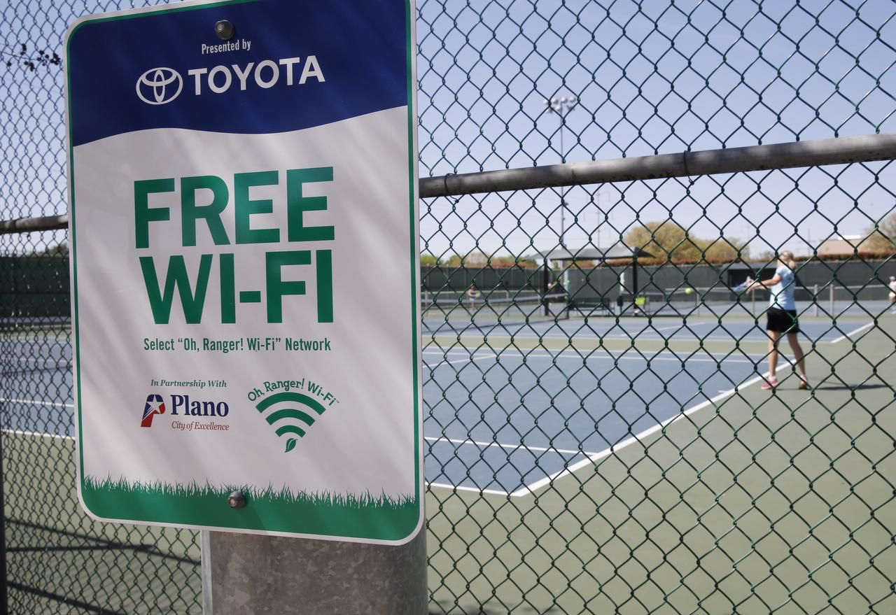 Toyota is also helping Plano pay for free Wi-Fi service in parks through a partnership with Time Warner Cable and American Park Network.