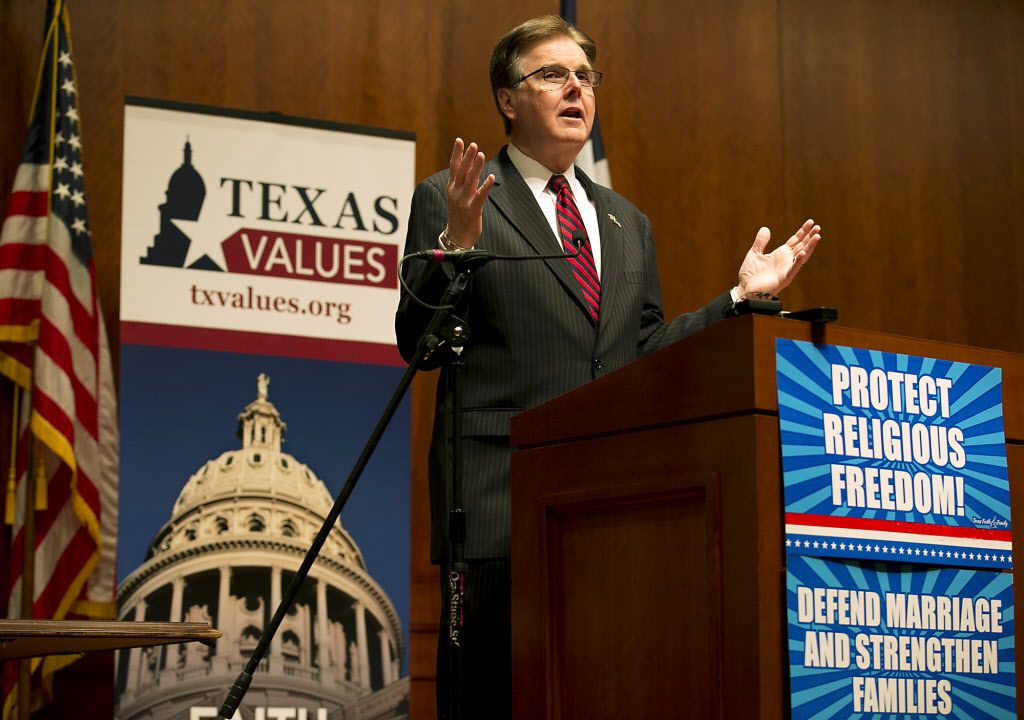 Lt. Gov. Dan Patrick spoke during Faith and Family Day at the Capitol in Austin in late February. (Ralph Barrera/Austin American-Statesman)