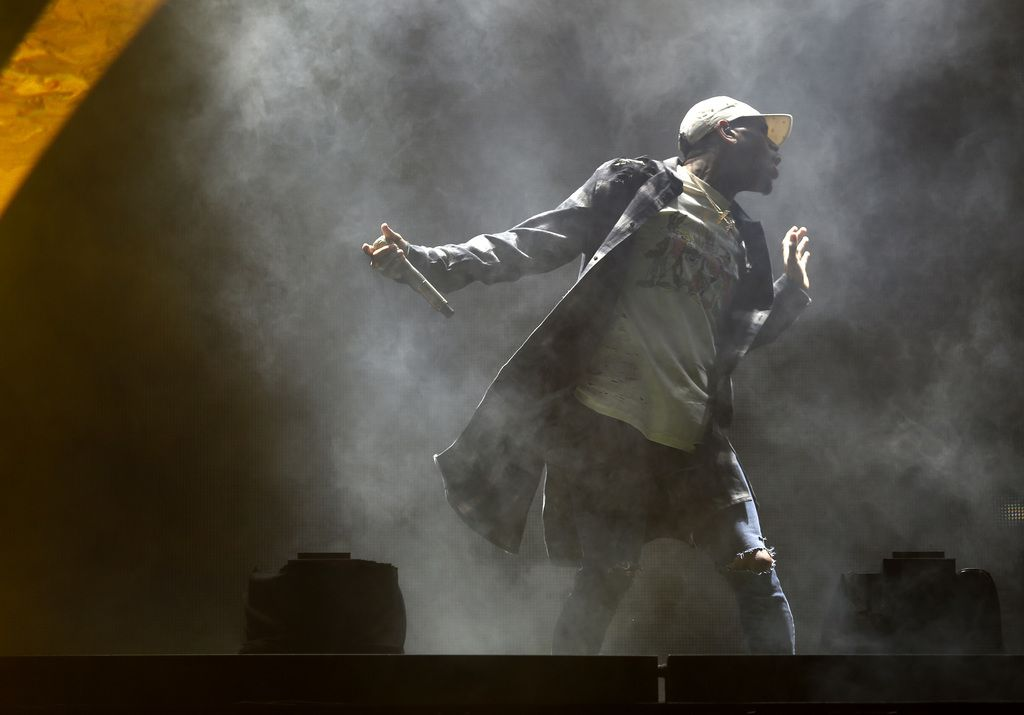 Chris Brown performs at Gexa Energy Pavilion in Dallas on Sept. 10, 2015.