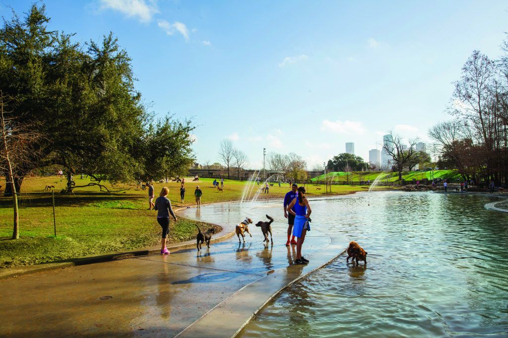 With easy access to downtown Houston, Buffalo Bayou is a great escape for fresh air and a break from Super Bowl action.