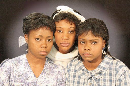 From left: Lisa Whitfield, Shundra Grubb and Sydney Sherow appear in The Bluest Eye, presented by Jubilee Theatre.