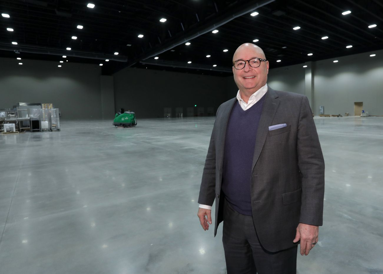 Michael Kennedy of Altera Development shows off the construction progress at the new Allen convention center.