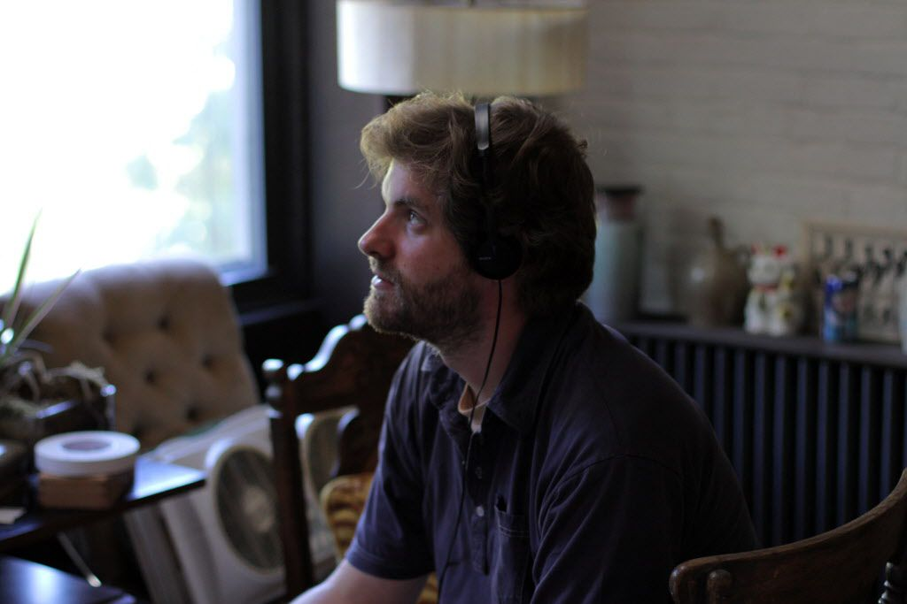 John Magary  on the set of The Mend.