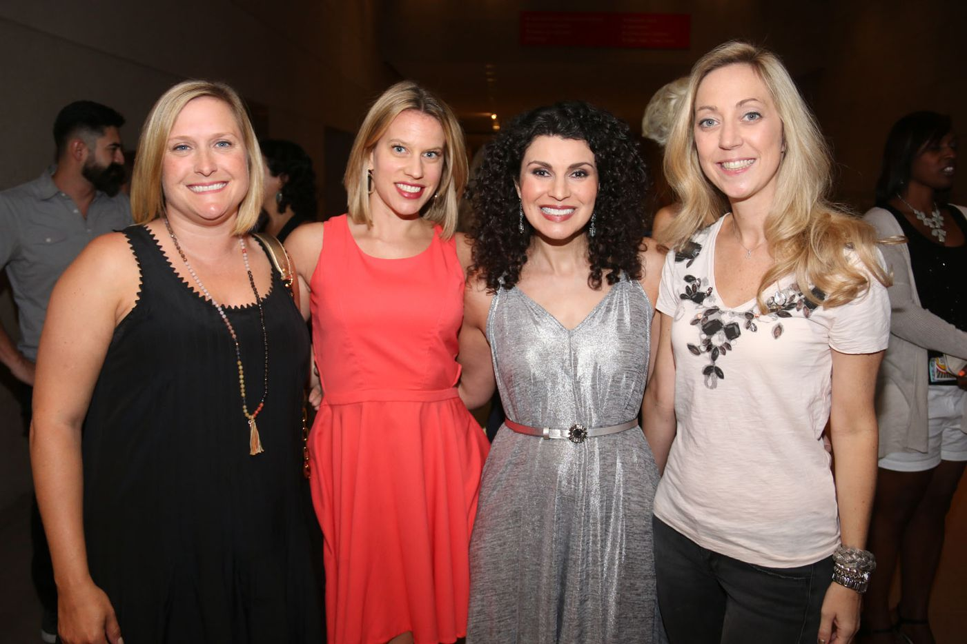 Monica Berry third  participated in the Oral Fixation  best of season four shown here with her friends at the Dallas Museum of Art on August 15, 2015