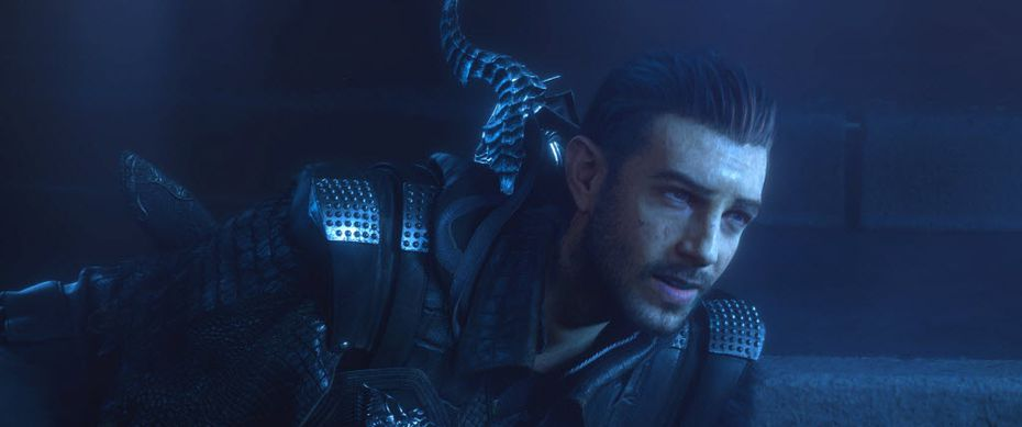 Nyx Ulric in Kingsglaive: Final Fantasy XV (Aaron Paul provides the voice, Neil Newbon provides the motion capture).
