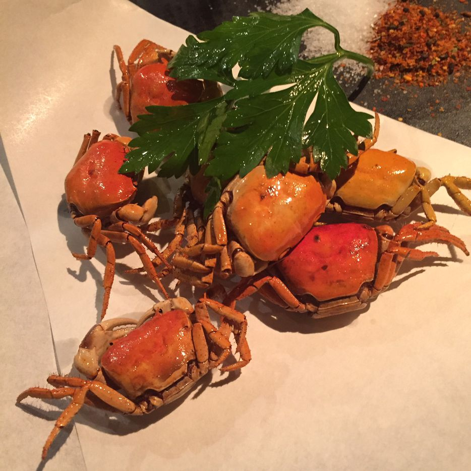 Sawagani -- fried river crabs -- at Tei Tei