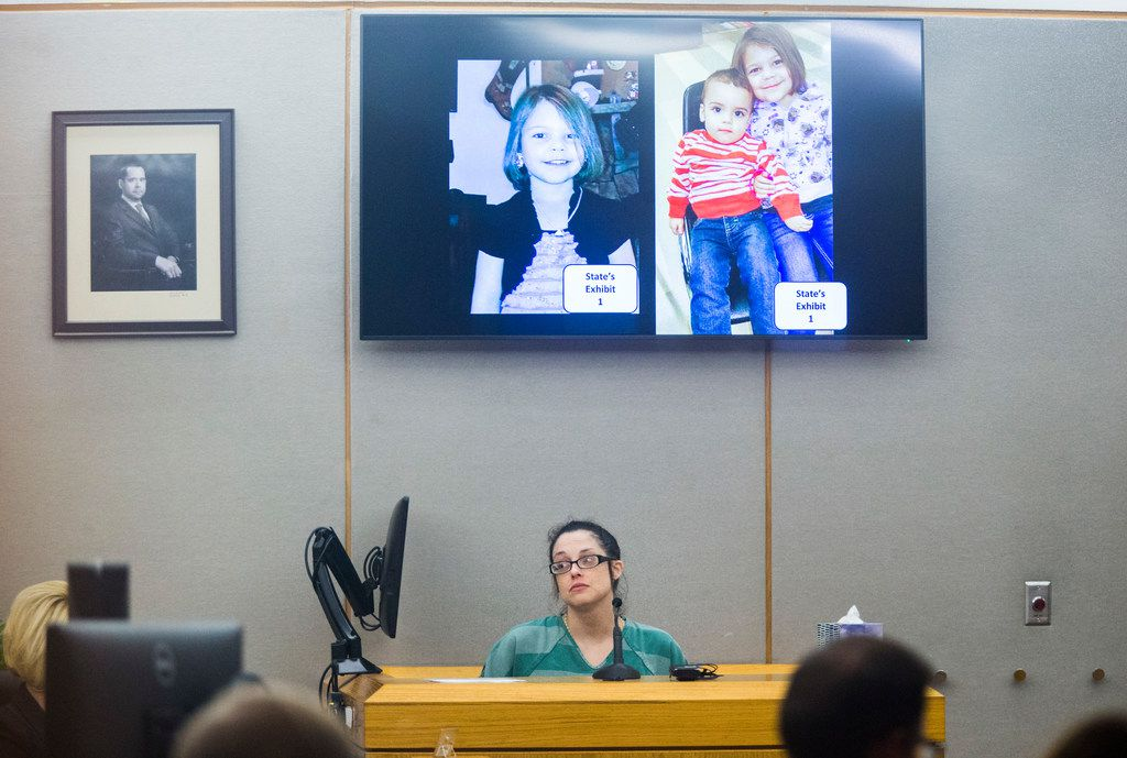 Jeri Quezada testifies Wednesday at the Frank Crowley Courts Building in Dallas.